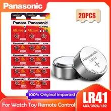 Button-Cell-Batteries AG3 LR41 L736 Panasonic Calculator Watch Computer-Clock SR41 20PCS