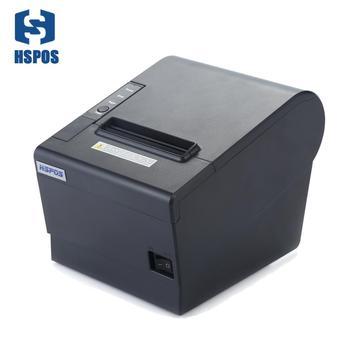 Impresora térmica de recibos HSPOS de 80mm, puerto USB y paralelo, cortador automático, Soporte para descarga de logotipo e impresión de HS-802UP