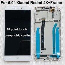 """Oryginalny Test 5.0 """"IPS LCD dla XIAOMI Redmi 4X wyświetlacz ekran dotykowy Digitizer z ramką dla Xiaomi Redmi 4X wyświetlacz LCD naprawa"""