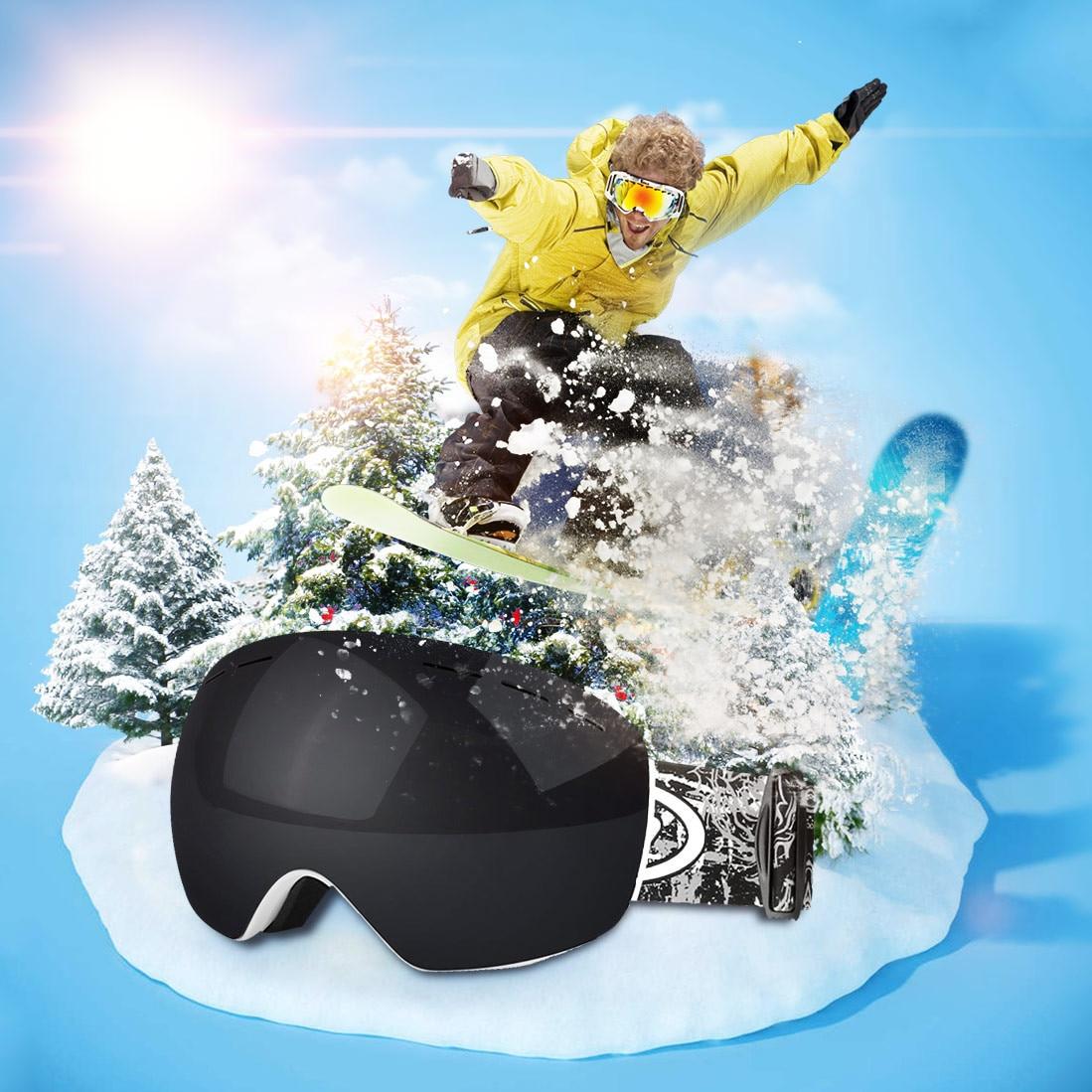 Ski Goggles Double Anti-Fog And Anti-UV Adult Spherical Double-Layer Ski Goggles Skiing Men Women Snow Snowboard Goggles 9.23