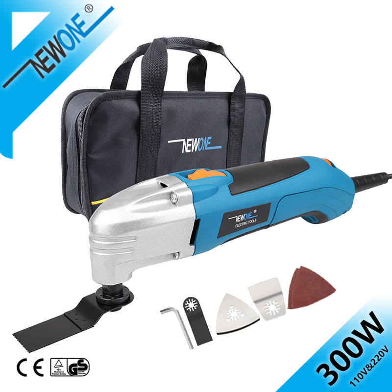NEWONE 120V Electric Multitool Trimmer Tool With Oscillating Saw Blades 230V Variable Speed Renovator Power Tool Saw Accessory