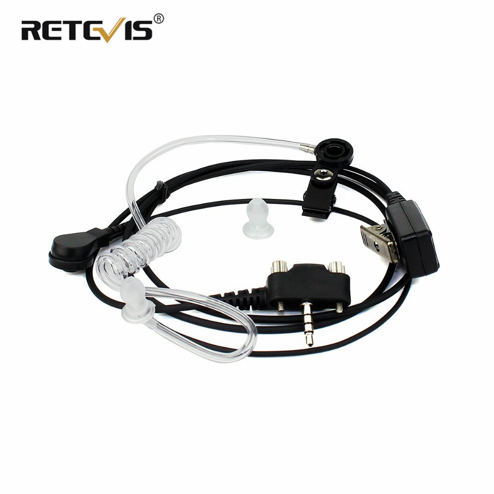 MT201B-PY02 Acoustic Tube Earpiece Headset For YAESU/VERTEX VX-140 VX-400 Walkie Talkie Ham Radio Hf Transceiver J6277A