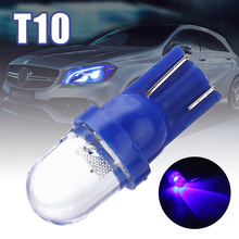купить Car Interior Lights 1pc 168 194 1 Smd Blue Led Auto Wedge Light Side Dashboard Number Plate Lamp Dome Bulb Super Bright дешево