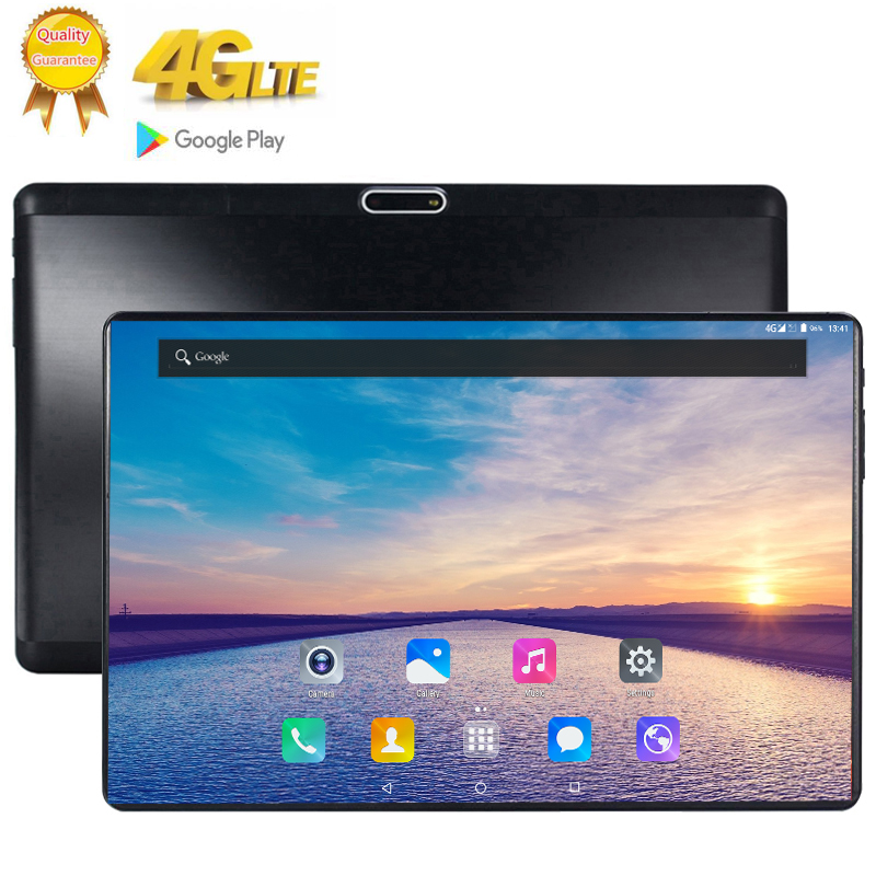 Resolution 2560*1600 10.1 inch 2.5D glass Screen Tablet 10 Core Dual SIM 4G LTE FDD13.0 MP GPS Android 9.0 google the tablet pc image