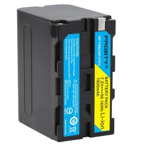 Image 5 - 7800mAh NP F970 NP F970 batterie daffichage de puissance + Ultra rapide LCD double chargeur pour SONY F930 F950 F770 F570 CCD