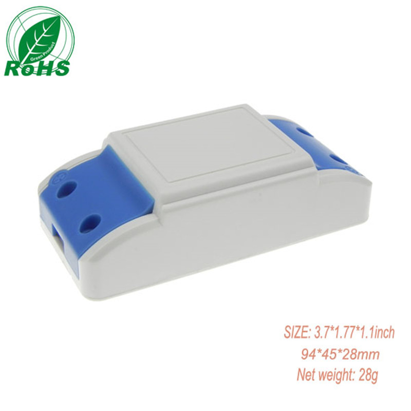 5pcs/lot Extrusion injection plastic enclosures for electronic LED driver box made by IP54 fireproof PC plastic 94*45*28mm image
