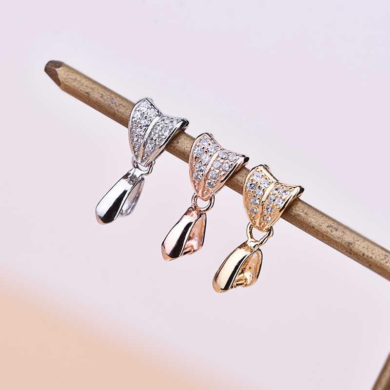S925 srebrna zawieszka klamra szmaragdowy wosk pszczeli Jade klamra bezpieczeństwa zapięcie Handmade akcesoria DIY naszyjnik klamra