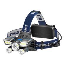 Алюминиевый сплав IPX4 водонепроницаемый супер-яркий L2+ 2T6+ COB светодиодный налобный фонарь Головной фонарь IPX4