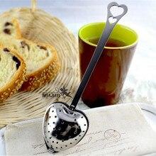 15% 8/Новинка, фильтр в форме сердца, чайные шарики из нержавеющей стали, ситечки для чая, косая чайная палочка, трубка для заварки чая, круче, H-48