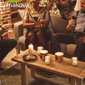 Image 4 - ERMAKOVA 6/12 Pcs Votive Candle Holder Mercury Glass Tealight Candle Holder for Wedding Parties Hotel Cafe Bar Home Decoration