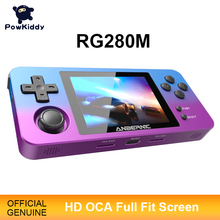 Game-Console Pocket-Game Handheld Powkiddy-Rg280m Open-Source Retro Metal Gift Shell