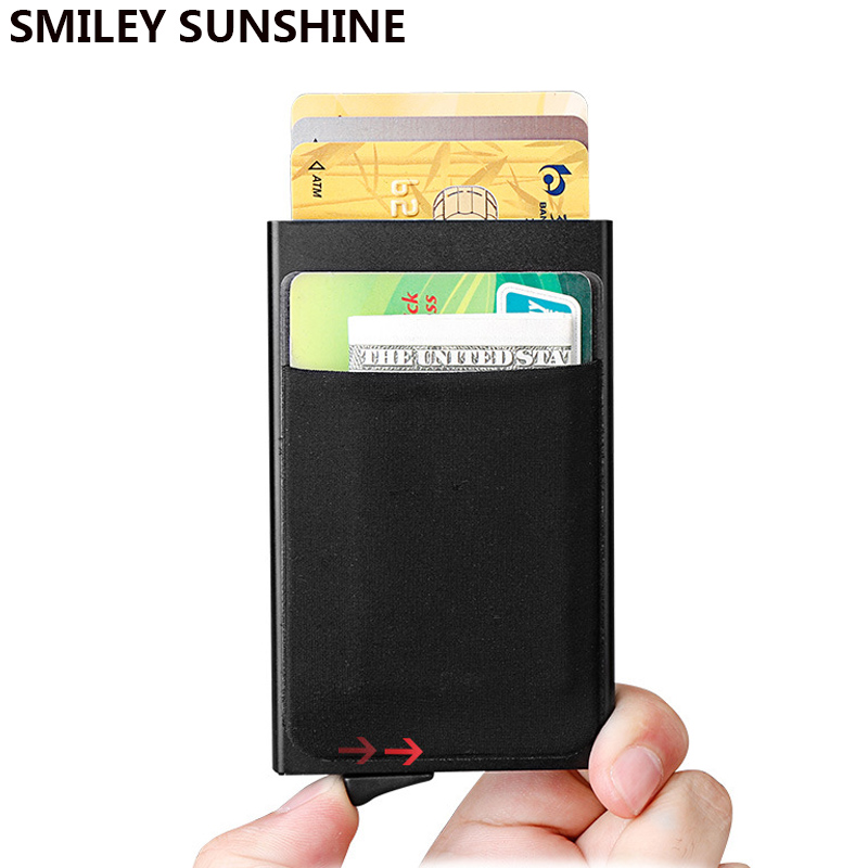 Rfid Card Holder For Men Wallets Money Bag Male Vintage Short Wallet 2020 Small Smart Wallets Mini Slim Wallets Purses Metal New