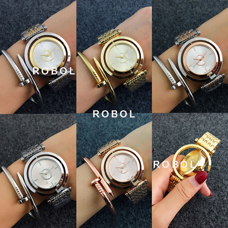 RLLEN Men Women Couples Quartz Common Watches Fashion Luxury Jewelry Gift Precision Temperament Elegant  Original Copy Jewelry