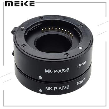 цена на Meike Mcoplus Macro MK-P-AF3-B Auto Focus Extension Tube Ring DSLR For Panasonic Olympus Lumix Micro 4/3 System Camera E-M5 GX1