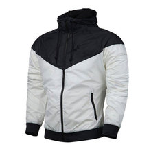 2021 spring and autumn brand hot sale solid color young men's hooded outdoor high-quality fashionable thin hip-hop zipper jacket