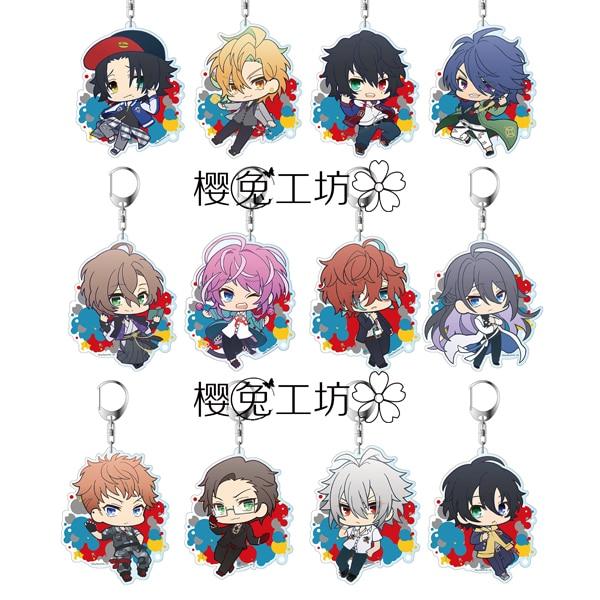 Anime Division Rap Battle Hypnosis Mic DRB MC.B.B MC.M.B MC.L.B Keychain Cosplay Acrylic Figure Keyring Charms Xmas Gifts 6cm