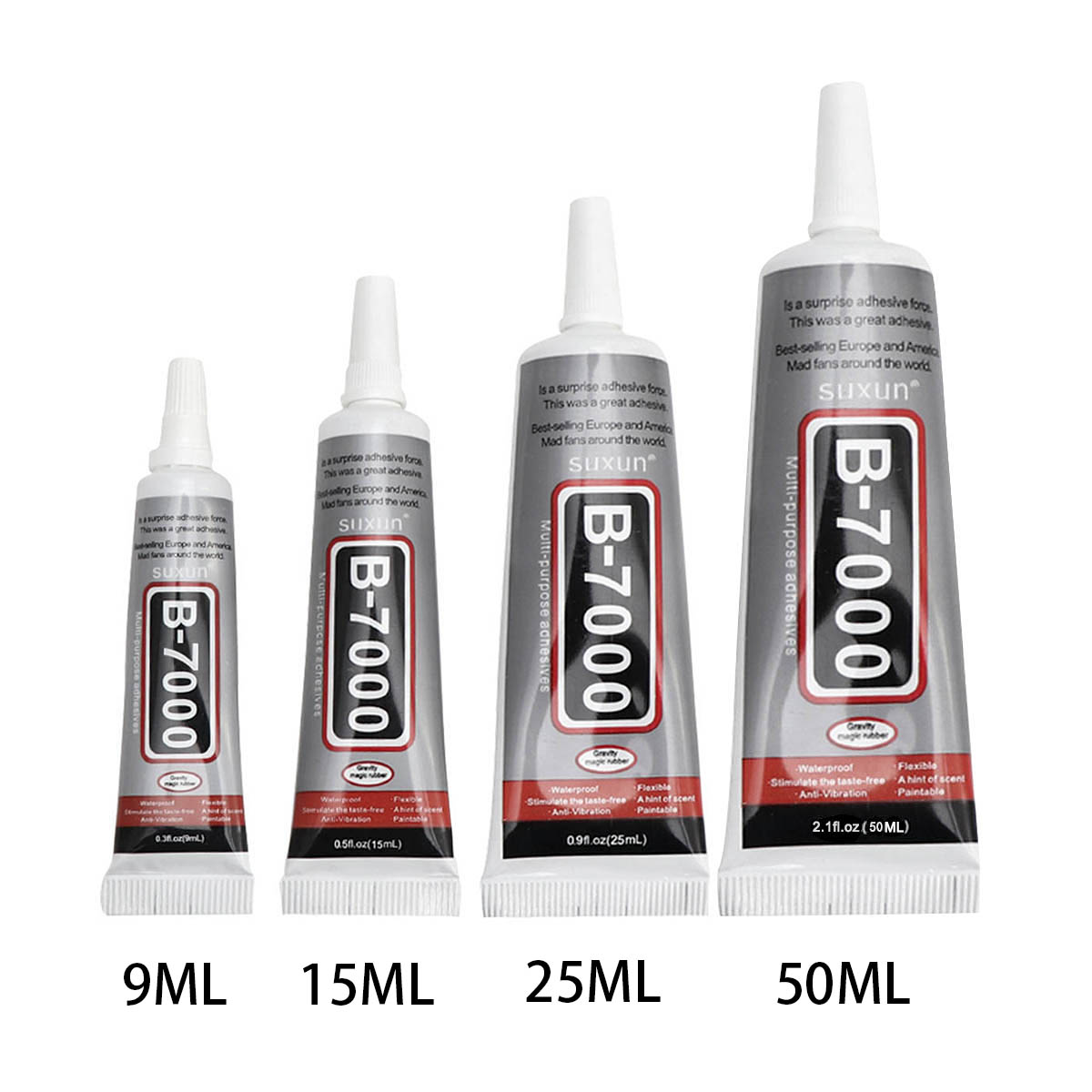 9ml 15ml 50MLB7000 25ml Glue B7000 For Rhinestones Needles Epoxy Mobile Phone Glass Glue Adhesive DIY Resin Jewelry Repair Glue