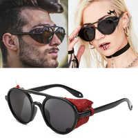 2020 DPZ NEW HOT Fashion Retro Toad Mirror Style Side Cover Sunglasses Women's Punk Round Brand Design Sunglasses Oculus De Sol