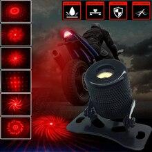 цена на Car Motorcycle Anti-collision LED Fog Tail Warning Light Motorcycle Taillight Anti-fog Light