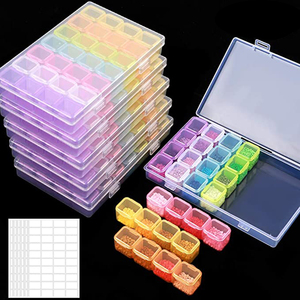 5D DIY Diamond Painting Drill Box Jewelry Box Rhinestone Embroidery Crystal Bead Organizer Storage Case Container