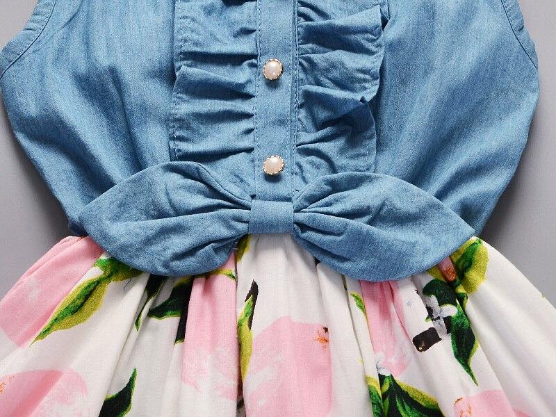 H9ed6055b5c904548929a4ecd95a8a763S Lemon Girl Baptism New 2018 Sleeveless Kid Dresses Girls Party Princess Vestidos Nina 6 7 Year Cowboy Dress