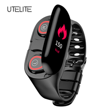 все цены на M1 Heart Rate Monitor Women Smart Watches Men With Bluetooth Earphone Fitness Tracker Blood Pressure Smart Wristband Android IOS онлайн