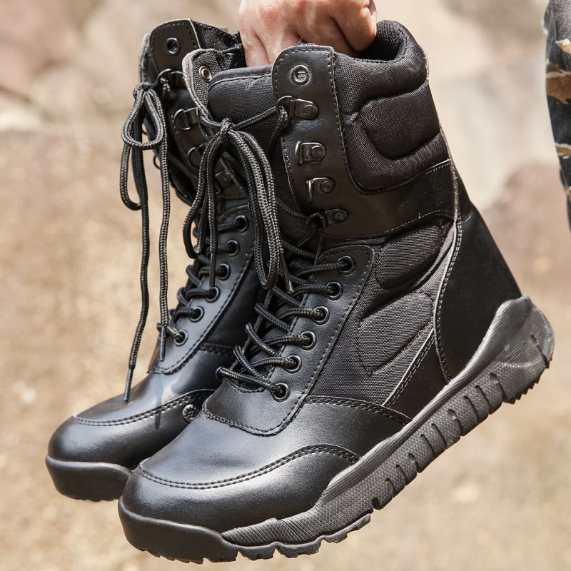 Ultra-Light Combat Boots CQB. Swat Oriental Wolf Lightweight Combat Boots Shock Absorption Hight-top Outdoor Tactical Boots Comb