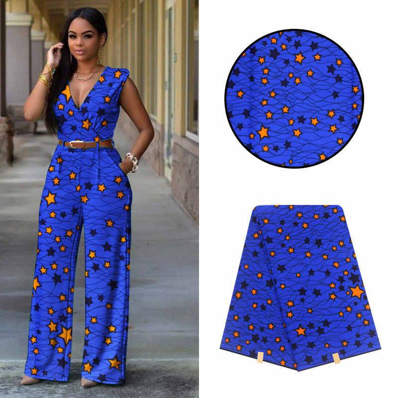 2020 Mooie Blauwe Katoenen Materiaal Afrikaanse Print Hoge Kwaliteit Echte Wax Stof Afrikaanse Nigeria Pagne Nederlands Wax Stof