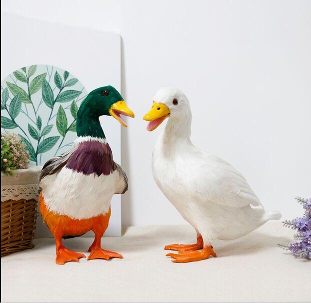 Имитация смолы перо фигурка утки обучающая модель моделирования, свадебные подарки на день рождения украшения дома сада ремесла подарки