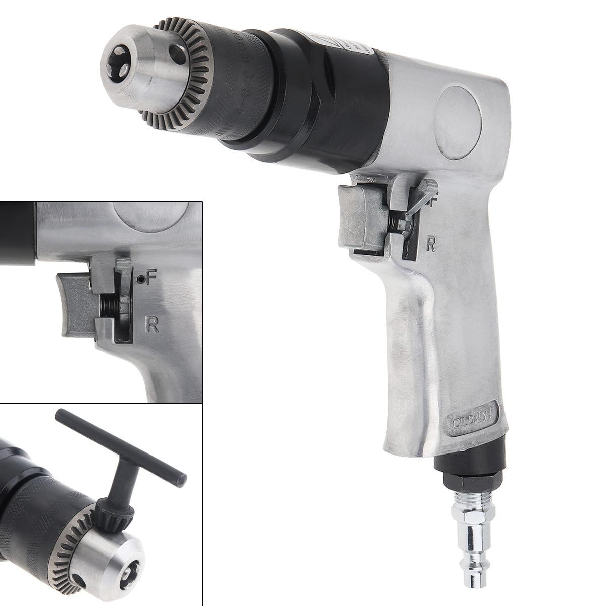 Pneumatic Hand Drill 1.5-10mm Pneumatic Drill Hand-held Reversing Air Drill