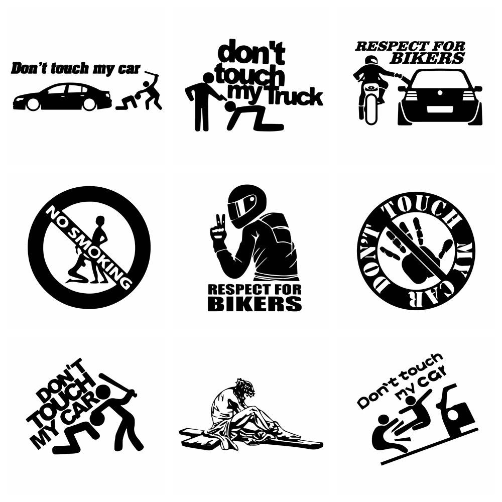 Интересные автомобильные наклейки «Не прикасайтесь к моим» и наклейки, забавные автомобильные виниловые наклейки для дверей автомобиля, А...