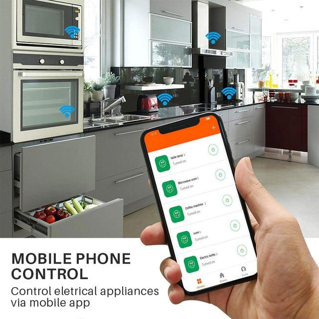 Smart Plug WiFi Socket EU 16A Power Monitor Timing Function Tuya SmartLife APP Control Works With Alexa Google Assistant 6