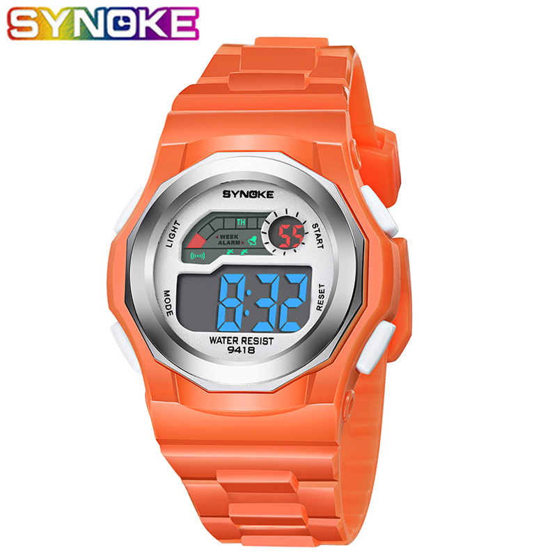 SYNOKE Sports Kids Digital Watche Watch Luminous Date Week Display Waterproof Stop Watch Children WristWatch