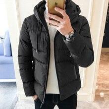 Winter Jacket Men Warm Thicken Parka Men Slim Fashion Solid Color Casual Hooded Short Coat Man Cotton Jacket Male Clothes M-4XL цена в Москве и Питере