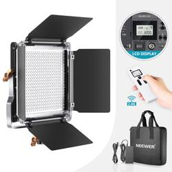 Neewer Advanced 2.4G 480 LED Video Light, Dimmable Bi-Color LED Panel with LCD Screen and 2.4G Wireless Remote for Photography