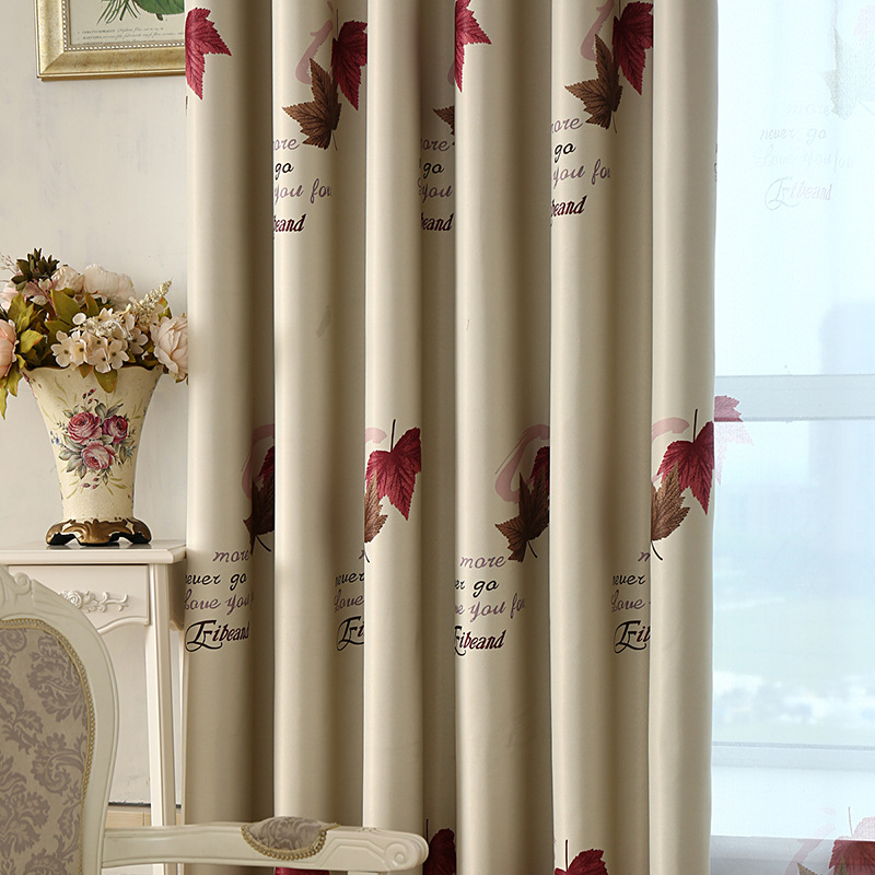 New Curtain Bedroom Living Room Curtains  Shading Printing Garden Curtains For Living Room