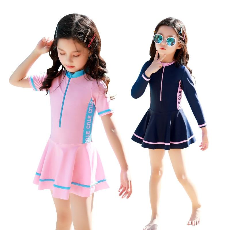 Child Swimwear Girls Swimwear Boxers Two Piece Swimming Suit Skirt Children Bathing Suit Swimming Suit For Kid Baby New Swimsuit