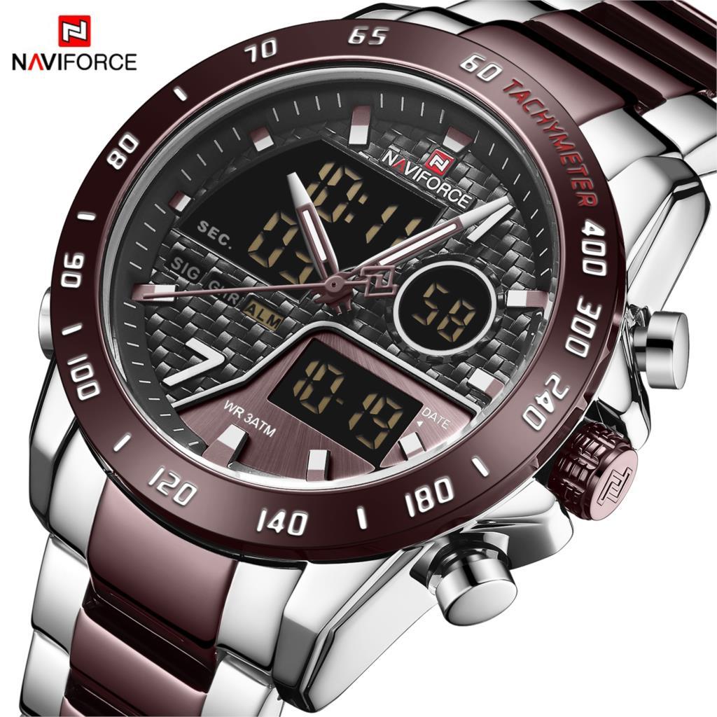 NAVIFORCE Men Watch Clock-Design Quartz Stainless-Steel Waterproof Luxury Brand Male Army Military Hour Relogio Masculino 2020