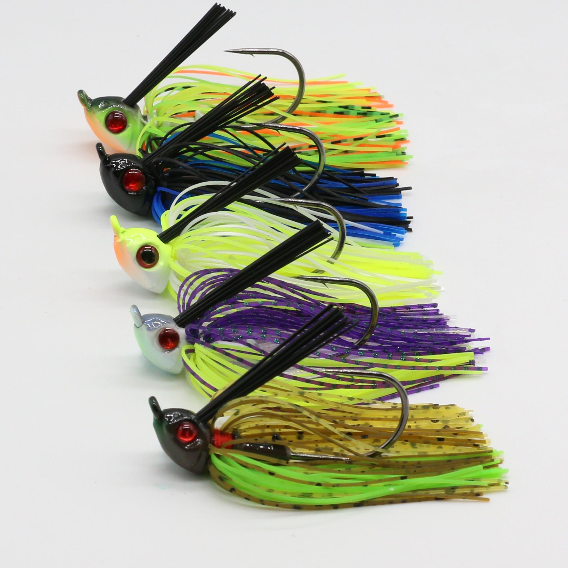 JonStar 1pc  12G/16G Finesse Chatter bait spinnerbait fishing lure wobbler chatterbait for bass pike walleye fishing-2