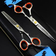 Hairdressing Barber Professional Cutting Scissors Hair Shears Japan 440c Salon Hair Thinning Scissors цена и фото