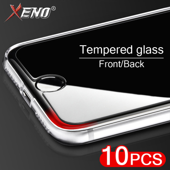10Pcs/Lot 9H Tempered Glass For iPhone XS Max XR 11 Pro Front/Back Screen Protectors On iPhone 7 8 Plus X 6 5 Protective Glass