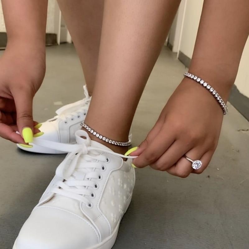 Женские браслеты с сапфирами, роскошные золотистые браслеты 18 К, 4 мм, с натуральным круглым и белым сапфиром, ювелирные украшения для помолв...