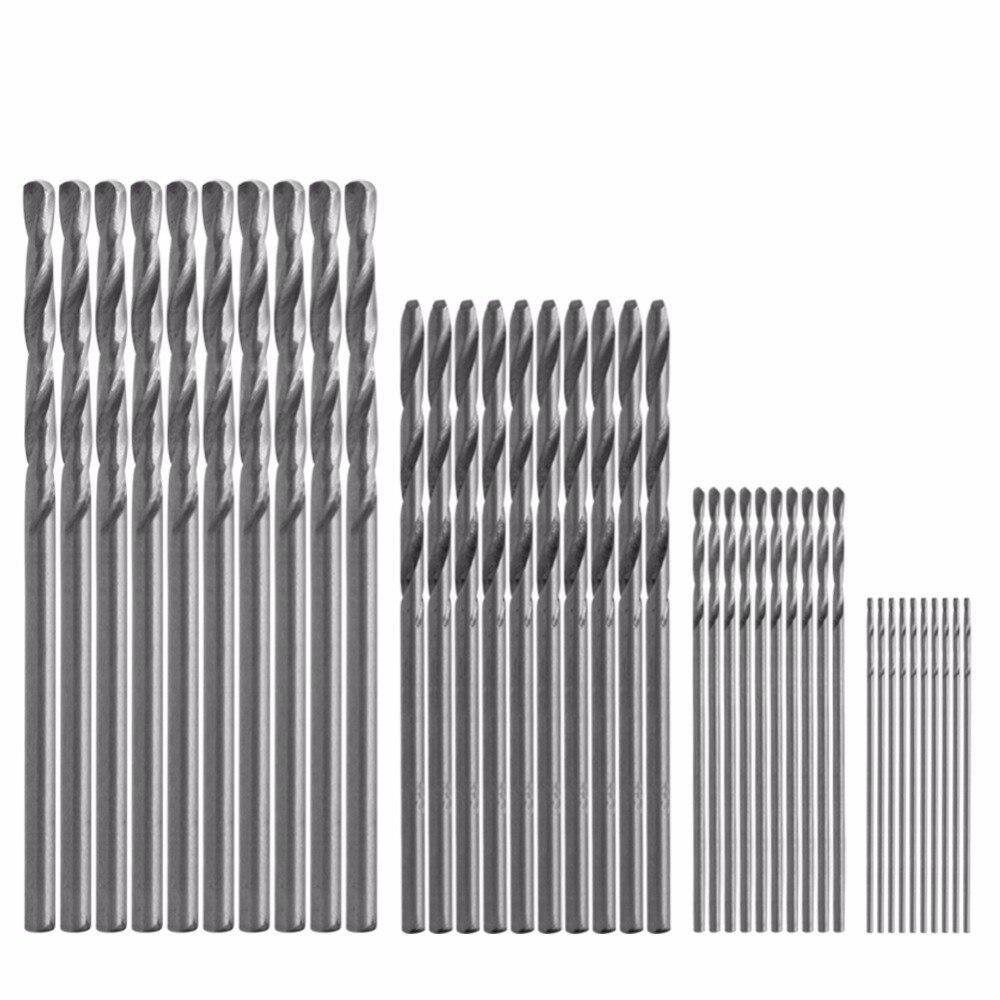 40Pcs/Lot Mini Drill HSS Bit 0.5mm-2.0mm Straight Shank PCB Twist Drill Bits Set