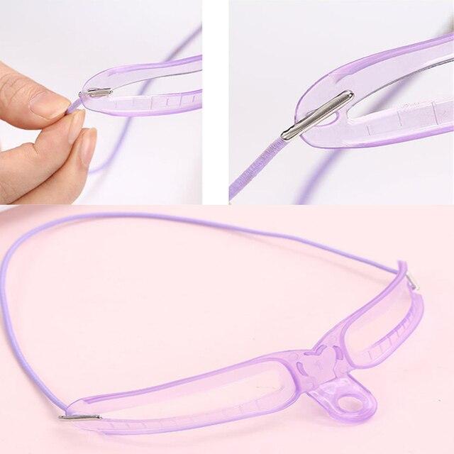 1 Set Reusable Eyebrow Shaping Template Helper Eyebrow Stencils Kit Grooming Card Eyebrow Defining Makeup Tools 1