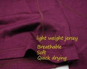 Image 3 - 100% Merino ขนสัตว์ผู้หญิงกีฬาชุดชั้นในชุด Light น้ำหนักลูกเรือเสื้อด้านล่างลมหายใจยาวกางเกงยีนส์กางเกง