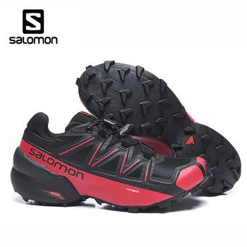Фото - Trail Running Shoes Salomon Speed Cross 5 Men Running Original Shoes Outdoor Athletic Sport Salomon Shoes Speedcross 5 Sneaker кроссовки мужские salomon l40684000 speedcross 5 черный текстиль l40684000 14 размер 45