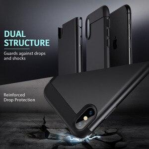 Image 4 - Esr caso para iphone xr x xs max se2 8 7 plus caso de metal kickstand vertical horizontal suporte pára choques capa para iphone se 2020 xs x