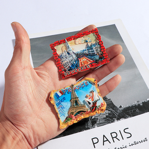 Image 5 - Souvenir Fridge Magnets Country Paris Resin Refrigerator Sticker Travel Turkey Italy Souvenir Magnets for Fridges Greece Tourist