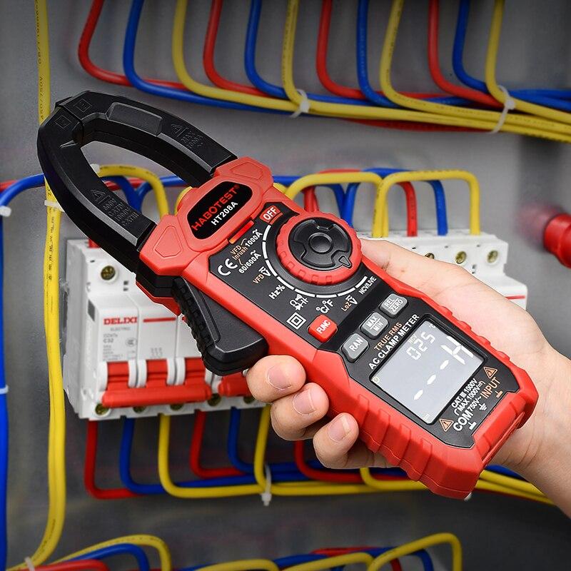Tools : Professional Clamp Meter Multimeter 1000V 1000A AC DC True RMS Pinza Amperimetrica Capacitance Ohm Hz VFD Digital Clamp Tester