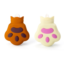 1Pc Bear Paw Silicone Hot Water Bag Explosion-proof Shatter-resistant Injection Microwave Heating Warm